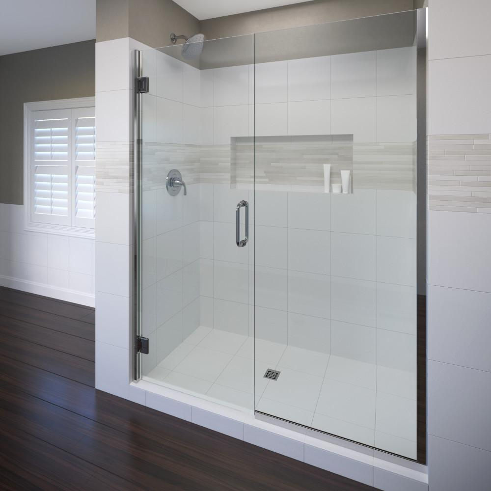 Coppia 59 in. x 72 in. Semi-Frameless Pivot Shower Door in