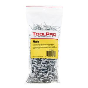 ToolPro 1/8 inch White Aluminum Pull Rivets (500-Piece) by ToolPro