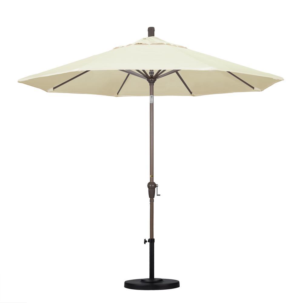 9 ft. Aluminum Auto Tilt Patio Umbrella in Canvas Pacifica