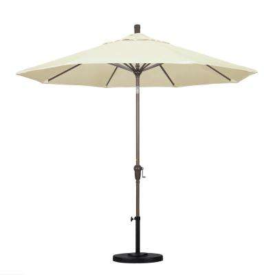 9 ft. Aluminum Auto Tilt Patio Umbrella in Canvas Pacifica