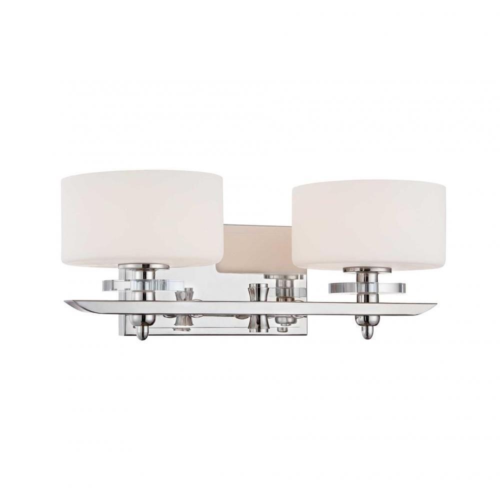 Montalto 2-Light Polished Nickel Bath Vanity Light