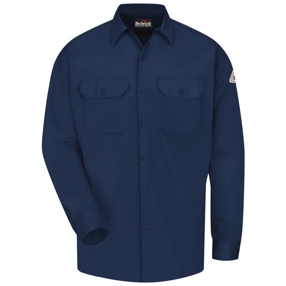 EXCEL FR ComforTouch Men's Medium (Tall) Navy Work Shirt