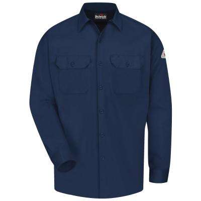 EXCEL FR ComforTouch Men's X-Large (Tall) Navy Work Shirt