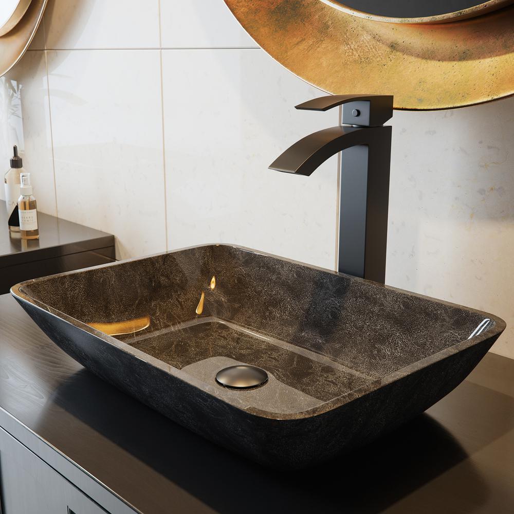 Gray Onyx Gl Vessel Bathroom Sink