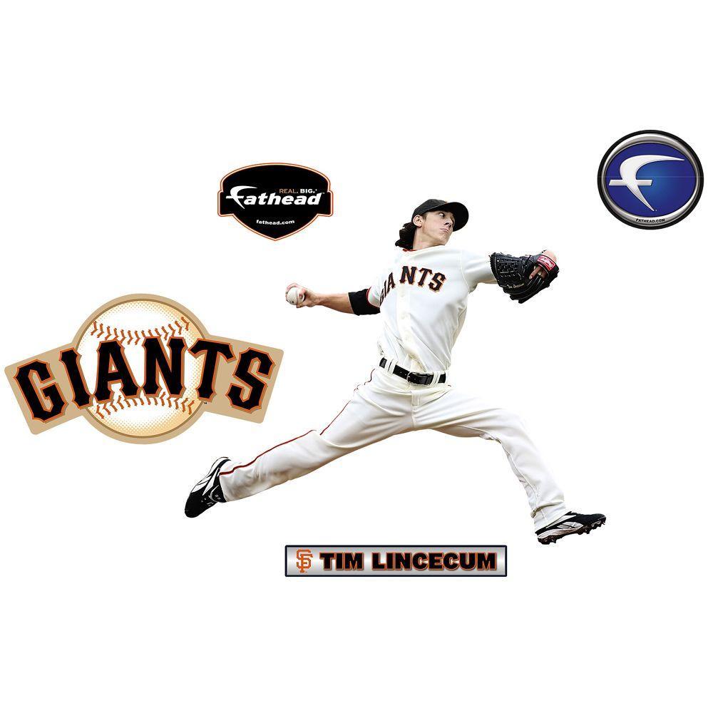 Fathead 31 in. x 25 in. Tim Lincecum San Francisco Giants Wall Decal