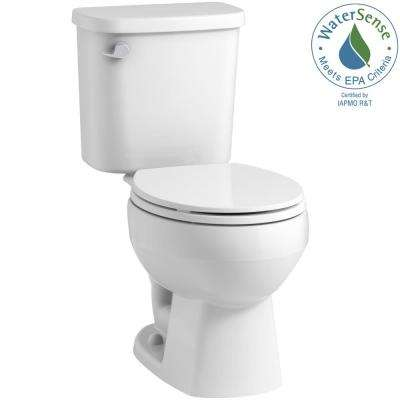 Windham 2-piece 1.28 GPF Single Flush Round Toilet in White