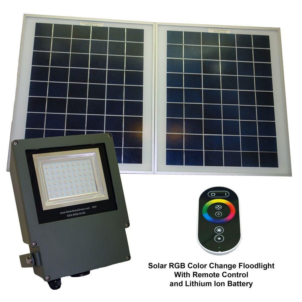 Outdoor Led Light With Remote: Solar Goes Green Solar Grey Color LED Changing Outdoor