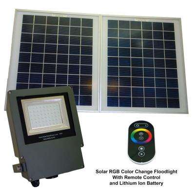 Solar Grey Color LED Changing Outdoor Flood Light with Remote Control
