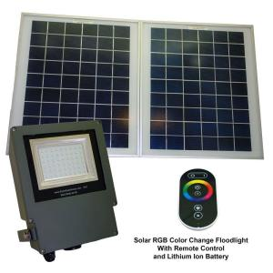 Solar Goes Green Solar Grey Color LED Changing Outdoor Flood Light with Remote Control by Solar Goes Green