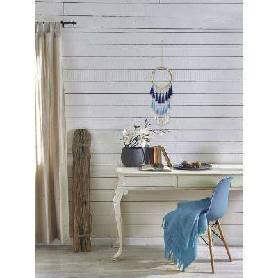 "Blue White ""Wonderful Ribbon Dream Catcher"" by Marmont Hill Wall Tapestry"