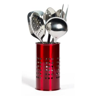 Red Stainless Steel Tub of Tools (7-Piece)