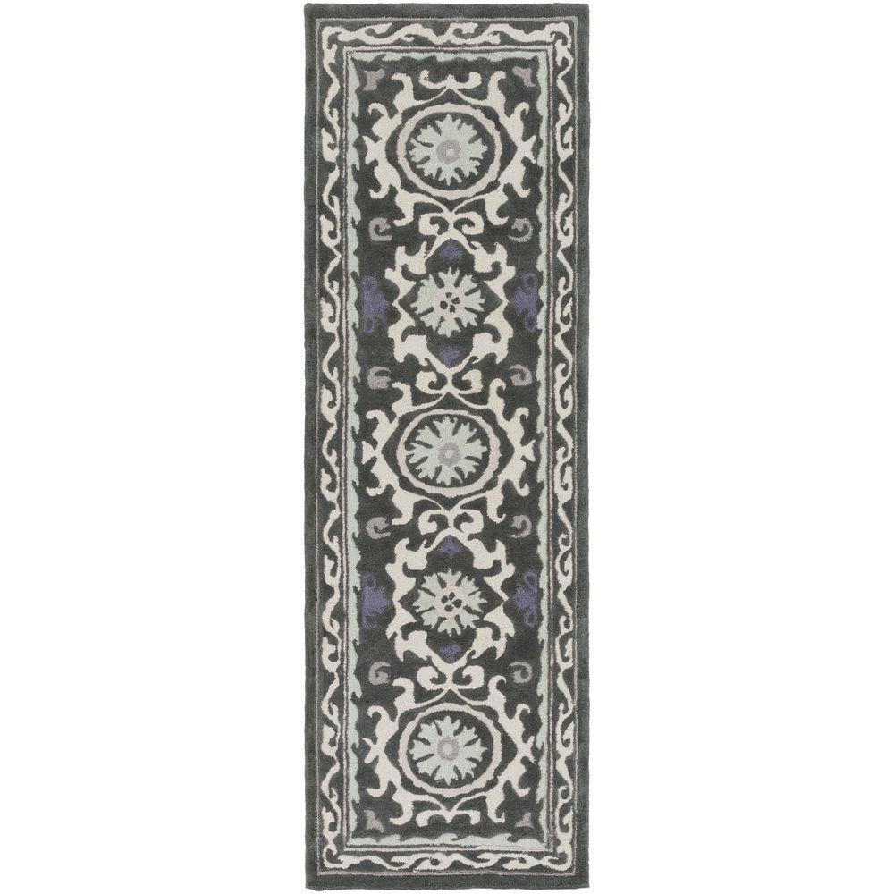 Sarkali Black 2 ft. 6 in. x 8 ft. Indoor Runner