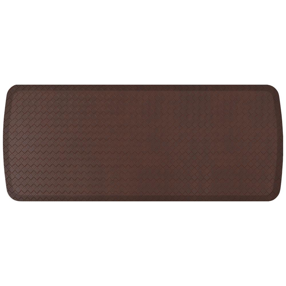 Elite Basketweave Truffle 20 in. x 48 in. Comfort Kitchen Mat