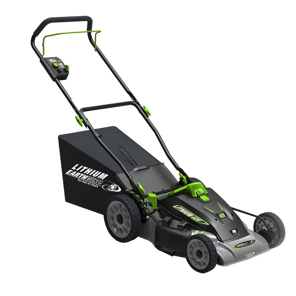18 in. 3-in-1 40-Volt Lithium-Ion Cordless Battery Walk Behind Electric Push