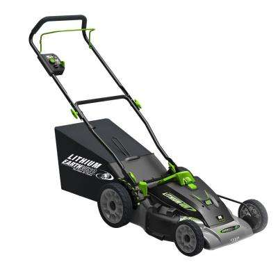 18 in. 3-in-1 40-Volt Lithium-Ion Walk Behind Cordless Electric Lawn Mower
