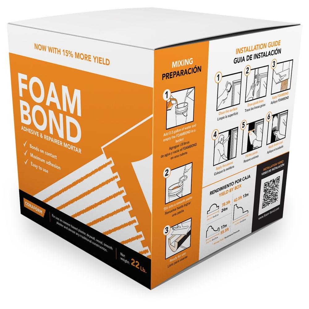 Coraform Foambond 7 In X Stucco Moulding Adhesive