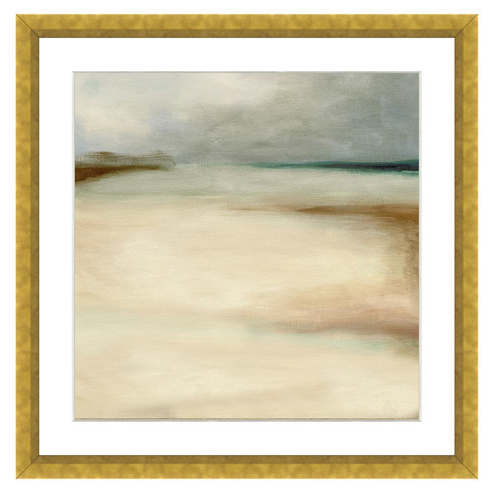 """""""Sand Dunes in Winter II"""" Framed Archival Paper Wall Art (20 in. x 20 in. in full size)"""
