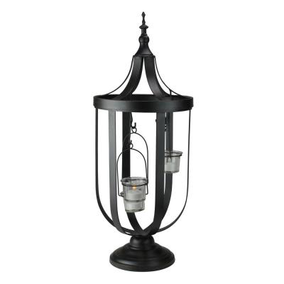 22 in. Antique-Style Birdcage Glass Votive Candle Holder