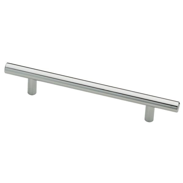 5-1/16 in. (128mm) Center-to-Center Polished Chrome Bar Drawer Pull