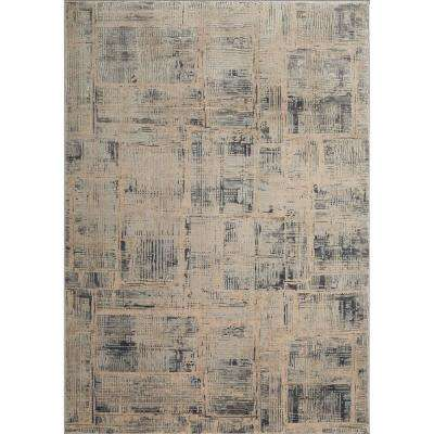 Kenmare Makenna Gray/Beige 31.5 in. x 47 in. Indoor Area Rug