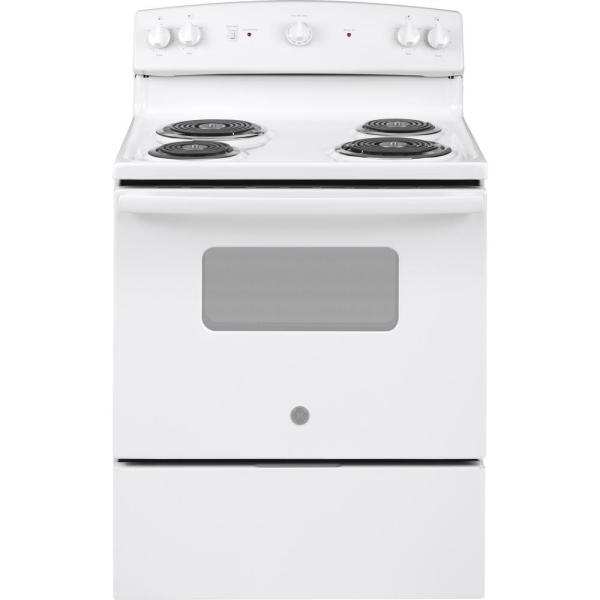 GE Appliances JBS160DMWW 30 Inch Electric Freestanding Range White