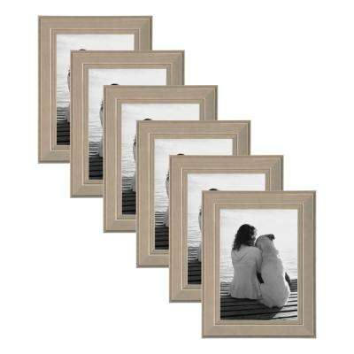 Kieva 5 in. x 7 in. Gray Picture Frame (Set of 6)