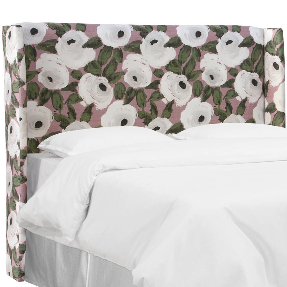 Bloomsbury Rose Blush Ivy Full Wingback Headboard