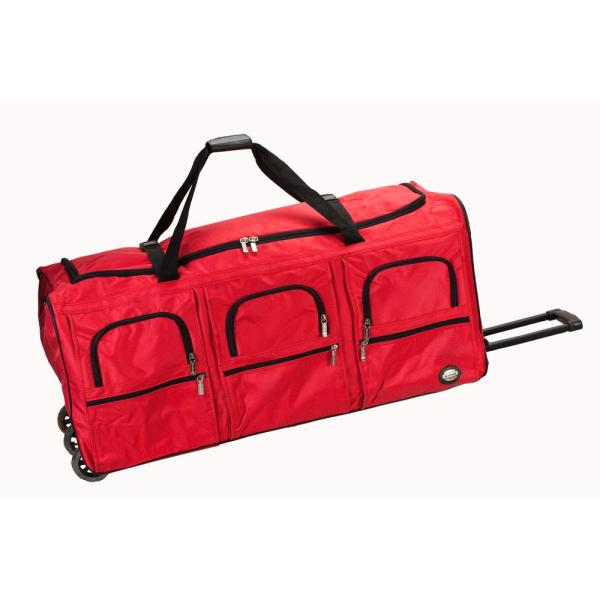 Rockland Voyage 40 in. Rolling Duffle Bag, Red