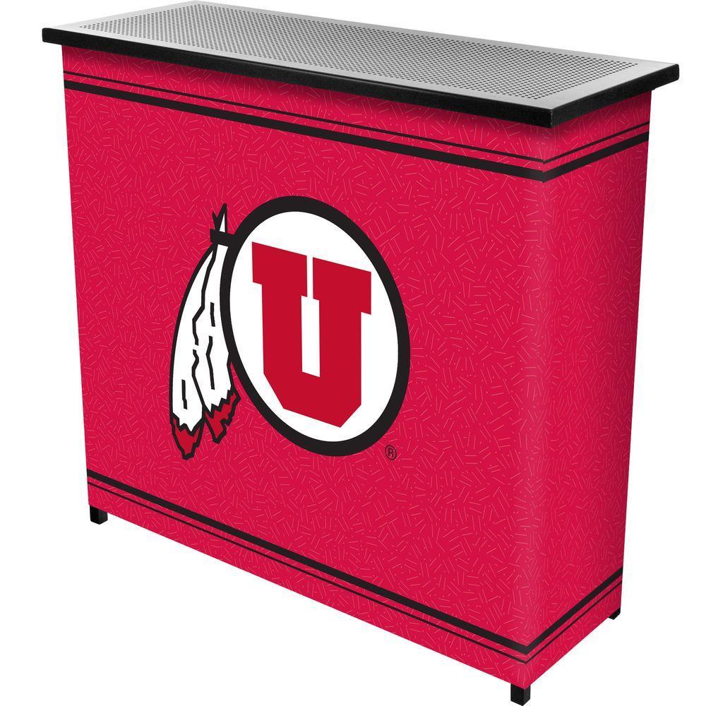 University of Utah 2-Shelf Black Bar with Case