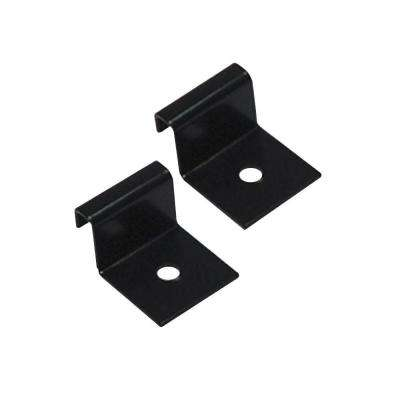 4 in. Metallic Wall Bracket - Black (2-Pack)