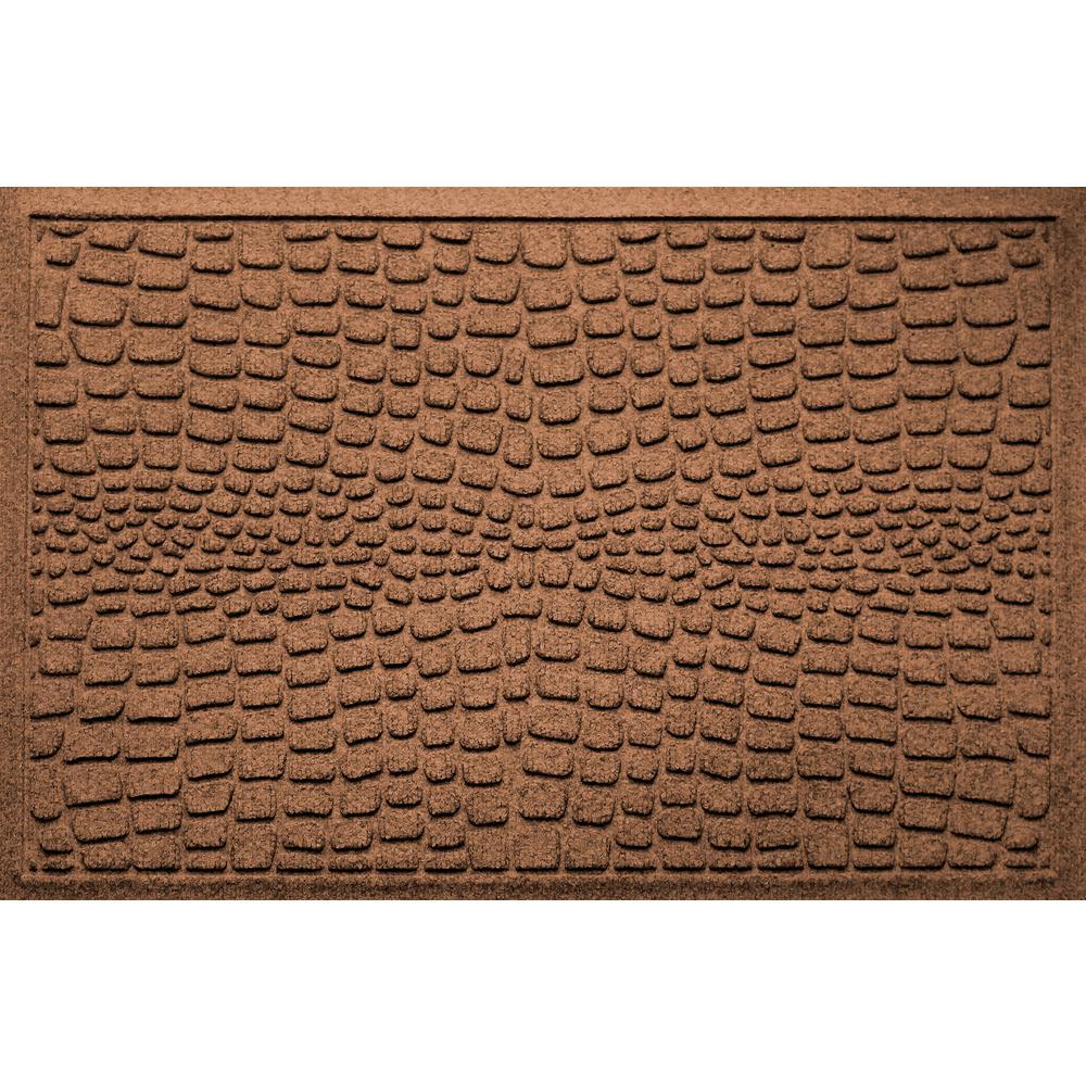 Charmant Aqua Shield Alligator Dark Brown 24 In X 36 In Polypropylene Door Mat