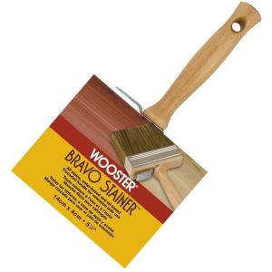 Wooster 5-1/2 inch Bristle/Polyester Bravo Stainer Brush by Wooster