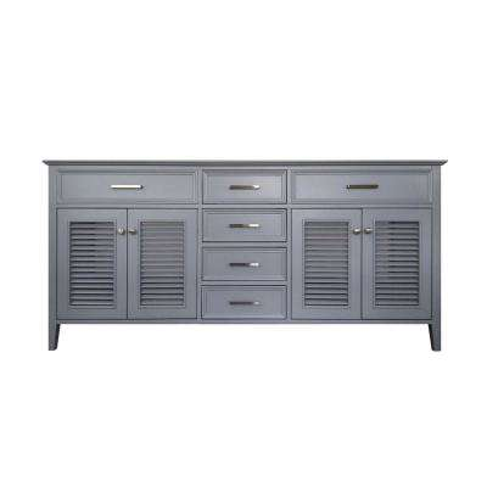 Kensington 73 in. Bath Vanity Cabinet Only in Grey