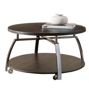 Coham Espresso Silvershield and Metal Cocktail Table by