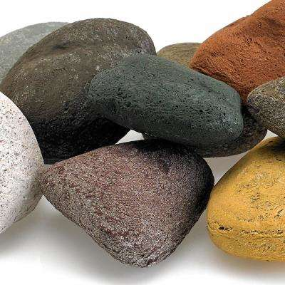 Beach Pebble Set Lite Stones - 15 Stone Set Includes 2 lbs. Small Lava Rock