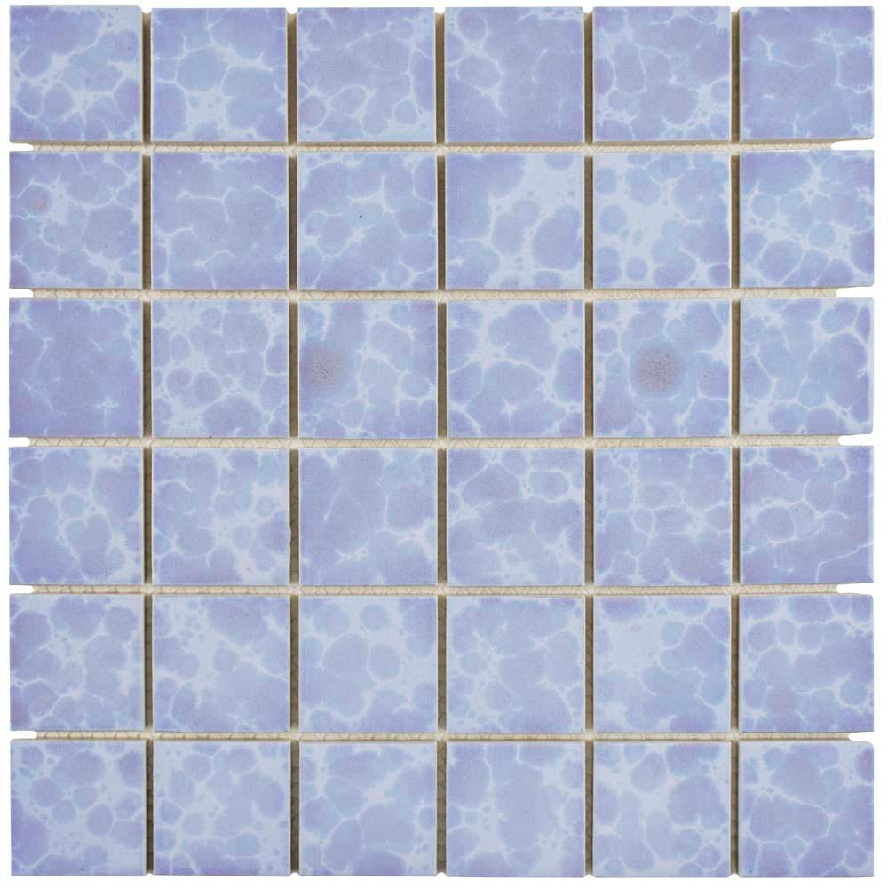 Merola Tile Pebble Green Moss 11 in. x 11 in. x 6 mm Porcelain ...