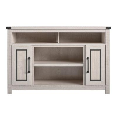 Harnish 48 in. Rustic White Particle Board TV Stand Fits TVs Up to 48 in. with Cable Management