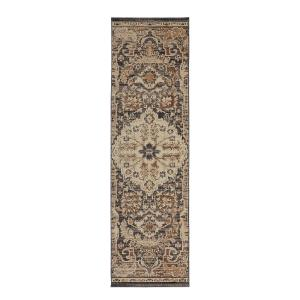 Home Decorators Collection Livia Blue Beige 2 ft. x 7 ft. Runner by Home Decorators Collection