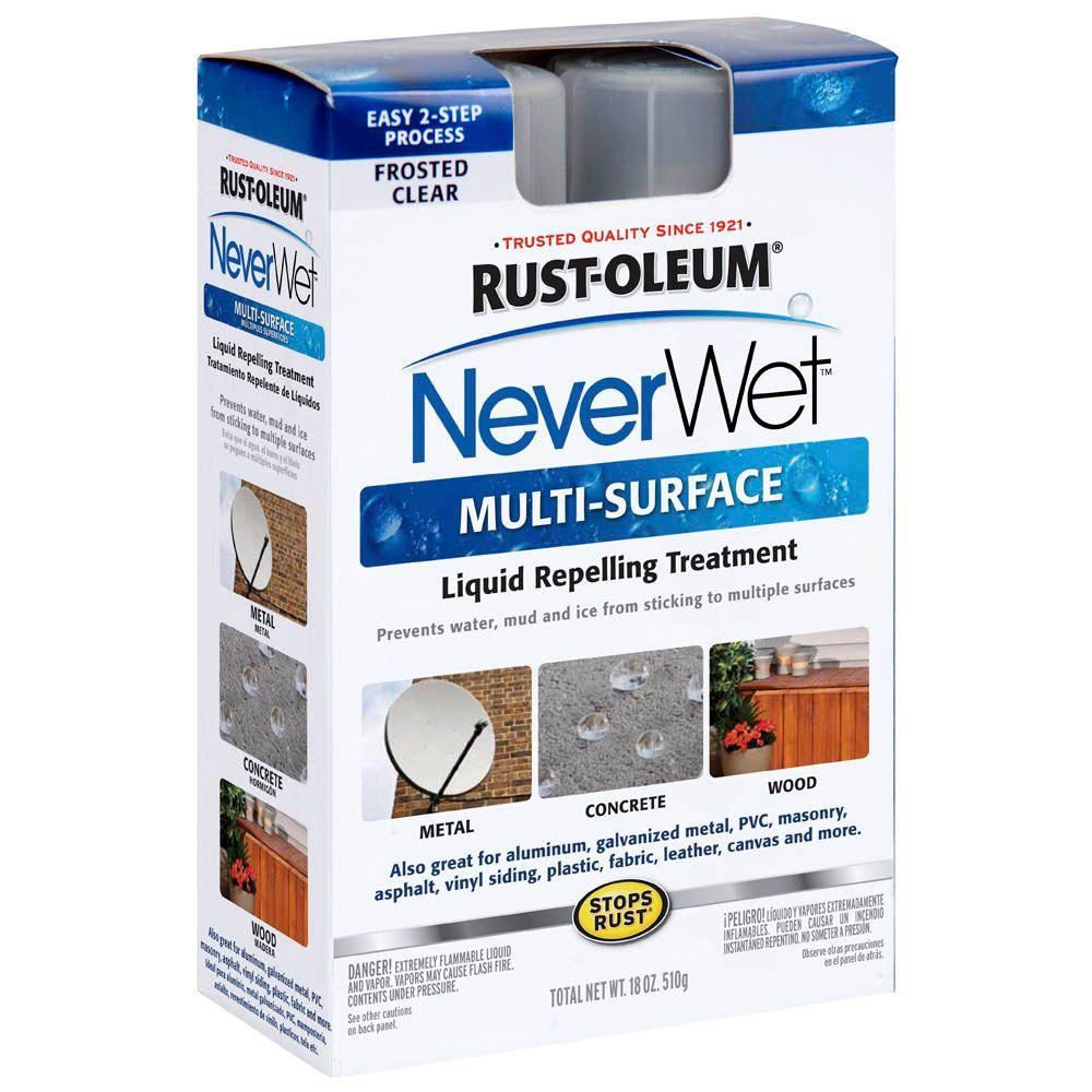 Rust-Oleum NeverWet 18 oz. Multi-Purpose Frosted Clear Liquid Repelling Treatment Spray Kit