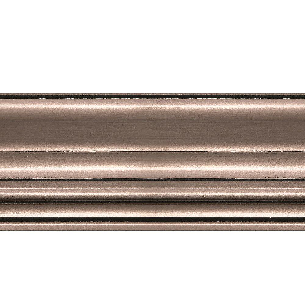 1.063 in. x 6 in. x 96 in. Wood Brushed Nickel