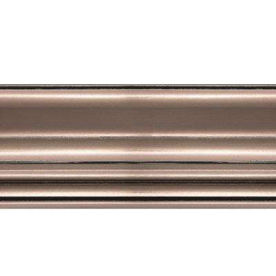 1.063 in. x 6 in. x 96 in. Wood Brushed Nickel Classic Style Ceiling Crown Molding