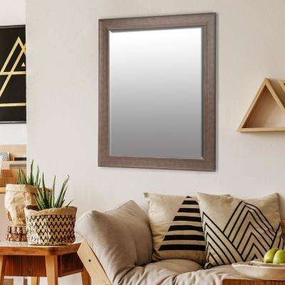 Bainbri Rectangular Beige Wall Mirror