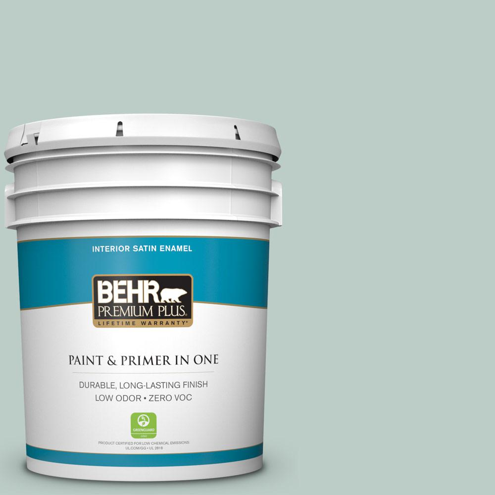 Home Decorators Collection 5-gal. #HDC-CL-23 Soothing Spring Zero VOC Satin