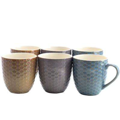 Honeysuckle 15 oz. Assorted Color Mugs (Set of 6)