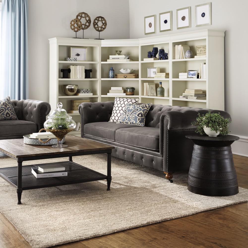 Home Decorators Collection Louis Philippe Modular Right Polar White Open Bookcase