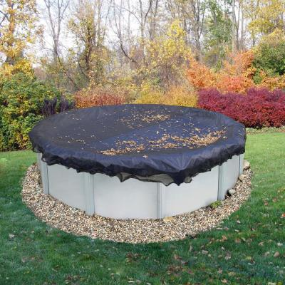 18 ft. Round Black Leaf Net Above Ground Pool Cover