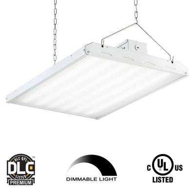 135-Watt 2 ft. White Integrated LED Backlit High Bay Hanging Light with 17420 Lumens 5000K