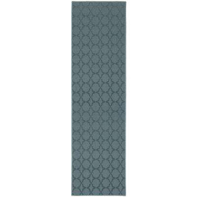 Sparta 3 ft. x 12 ft. Area Rug Runner Seafoam