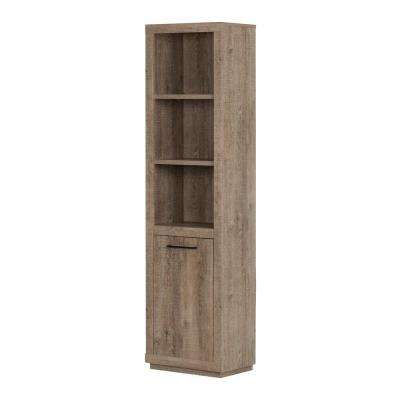 Kanji Weathered Oak Storage Open Bookcase