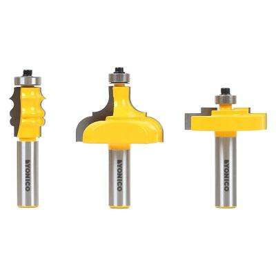 Picture Frame 1/2 in. Shank Carbide Tipped Router Bit Set (3-Piece)